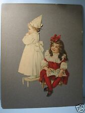 Victorian Print cut-out Vintage Playing School Maud Humphrey look