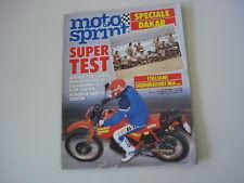 MOTOSPRINT 6/1986 MONTESA COTA 242/KTM MX 250/CAGIVA WMX 125/APRILIA TUAREG 350