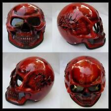 Motorcycle Helmet Skull Skeleton Ghost Rider Full Face Airbrush S - XXL