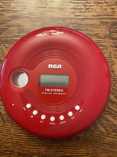 Rca Rp2910B Red portable cd player with Fm stereo radio
