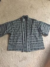 Forever 21 Black And White Knit Cardigan Small