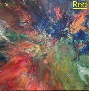 Original Abstract acrylic painting on canvas by artist, one of a kind 12x12'