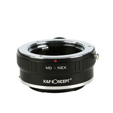 K&F Concept Adapter for Minolta MD MC Lens to Sony NEX E Mount Camera w/Tripod