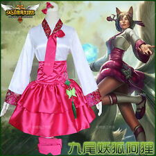 Cosplay Costume Chinese style Game League of Legends LOL Ahri Lolita Dress