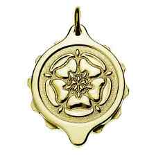 SOS Talisman Gold Plated Pendant - Tudor Rose