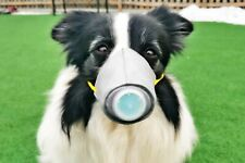 2-pack Pet Dog Gray Face Mask - Filter for air pollution and anti-haze - muzzle