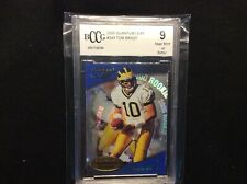 2000 Tom Brady RC quantum leaf BCCG. 9 Patriots