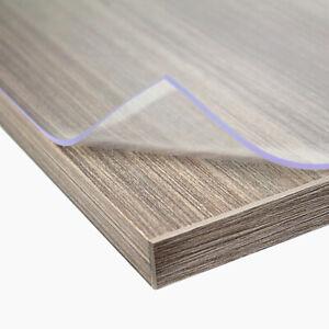 Premium Tischdecke PVC Tischfolie Schutz Folie transparent / klar oder matt 2mm