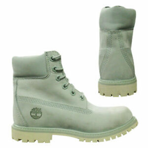 Timberland 6 Inch Premium Waterproof Womens Nubuck Mint Lace Up Boots A1BJ9 Z4B