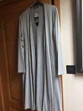 Light Grey Long Shaped Viscose Jacket / Coat / Kimono Size 24, Nwts