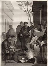 GRAVURE RELIGION /  SAINT PAUL A EPHESE ( tableau de Lesueur )