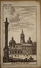 stampa antica santa maria maggiore gravure roma old print kupferstich 1661