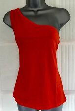 BNWT NEW LOOK 12 orange one shoulder v neck t-shirt vest beach party top