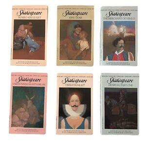6 lot Classic Shakespeare,William Bantam Set Mass Market PB Romeo & Juliet