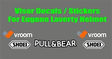 Visor Decals Stickers for Eugene Laverty Helmet NEW