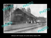 OLD LARGE HISTORIC PHOTO OF ALDERGROVE BC CANADA, THE RAILWAY STATION c1900