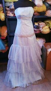 Neu Brautkleid 100% Handarbeit Verlobung Hochzeitskleid Größe 40 Hellblau B70
