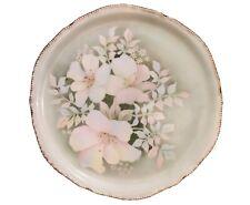 "Antigue Vintage Floral Serving Platter 12.75"" Hand-Painted ""Dee DeVinny 1954"""