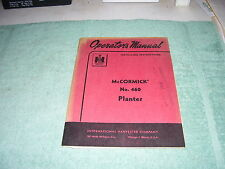 Ih Mccormick No 460 Planter 1960 Original Operators Installing Manual