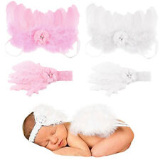 Newborn Baby Girls Angel Feather Butterfly Wings Costume Photo Photography Props