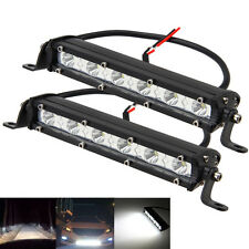 Pair 7Inch 18w Spot Slim Led Work Light Bar Single Row Offroad Lamp SUV Driving