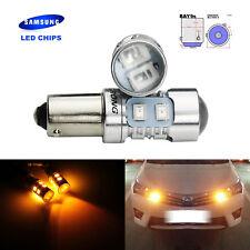 2Pcs H21W 435 BAY9s SAMSUNG LED 10W Indicator Side Light Bulbs Amber VW Golf Mk5
