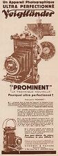 Y8421 Appareil Photo VOIGTLANDER Prominent - Pubblicità d'epoca - 1934 Old ad