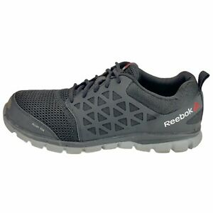 Reebok Mens Sublite RB4041 Gray Athletic Sneaker Shoes Lace Up Low Top Size 13 M