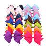 4 Inch Bow Baby Girls Hair Bow Clip Grosgrain Ribbon Boutique Hairpins Headwear