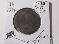 1796 S-87 Large Cent - Liberty Cap type - Almost Good Cond  Lot# AT-54