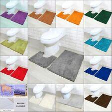 2PC Piece Bath Mat Set Bath and Toilet Pedestal Mat Set Chenille Non Slip