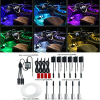 Car Light Interior Decoration Fiber Strip Light Foot light App Control Universal