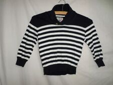 Rebel Girls Black & White Striped 100% Cotton Jumper Size 4-5 Years