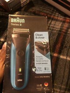 Braun Series 3 BRA310 310S Cordless Rechargeable Men Wet & Dry Electric Sealed!