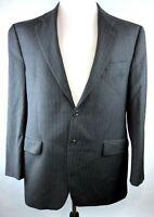 Ralph Lauren Mens 42R Gray Wool Pinstripe Two-Button Blazer / Suit Jacket