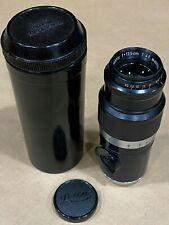 LEICA 13.5mm f/4.5 Hektor BLACK Ernst LEITZ Wetzlar M39 Screw Mount LENS #655705