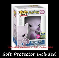 Funko POP! Games 581 MEWTWO Flocked Games Pokémon SDCC Shared Exclusive IN HAND