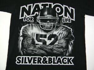 Vintage Oakland Raiders T-Shirt Adult 2XL Raider Nation Silver and Black R4L