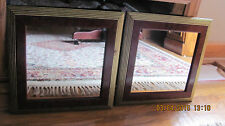 2 Home Interior / Homco Picture Wall Accent Mirrors Euc Burgundy Framess