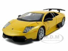 2010 LAMBORGHINI MURCIELAGO LP 670-4 SV YELLOW 1:24 MODEL CAR BY BBURAGO 21050