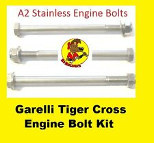 1970's era Garelli Tiger Cross Stainless Engine Bolts and nuts (set of 3)