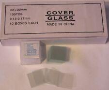 Microscope Slides Cover Glass Slip 2222 Mm 1000 Pcs