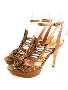 NEW Belle by Sigerson Morrison Metallic Multistrap Sandals - Size 7.5