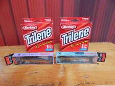 2 Trilene Xl Smooth Casting 8lb Fishing Line Boxes New + 2 Rapala Finish Minnows