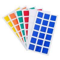 6Stück 3x3x3 Magic Cube PVC Aufkleber fürDayan Guhong Rubik's Cube Puzzle ToyDBS