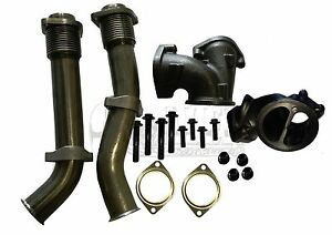 Bellowed Up Pipe Kit for Ford 99-03 7.3L Super Duty Turbo Diesel with Hardware