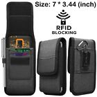 For Samsung Galaxy A02s/A12/A32/A42/A52/A72 Clip Loop Holster Case Rfid Wallet