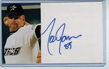 TODD JONES INDEX CARD SIGNED 1993-2008 TIGERS ASTROS RED SOX PSA/DNA CERTIFIED