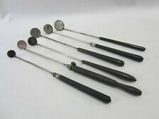 6 Antique Graduated Laryngoscopic Mirrors- Hard Plastic & Ebony   M#476