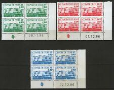 FRANCE:  Service n°93/95 ** en blocs de 4 coins datés (1986)